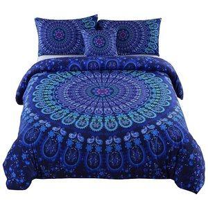 4 Pcs Duvet Cover Bedding Bohemian Mandala Pattern